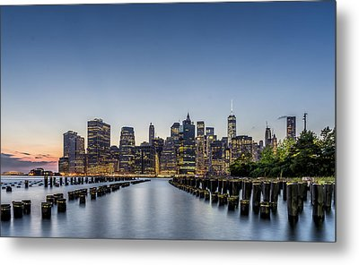 New York City Dusk Metal Print