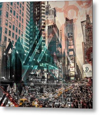 New York City Geometric Mix No. 4 Metal Print by Melanie Viola