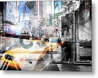 New York City Geometric Mix No. 9 Metal Print