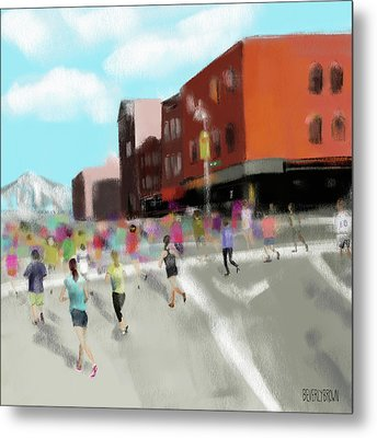 New York City Marathon Metal Print
