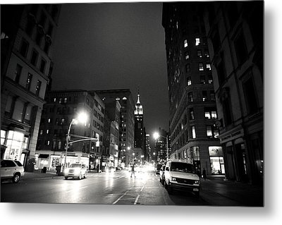 New York City - Midnight Metal Print