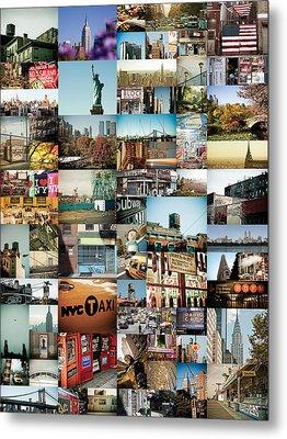 New York City Montage 2 Metal Print by Darren Martin
