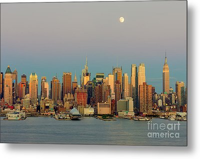 New York City Moonrise I Metal Print by Clarence Holmes