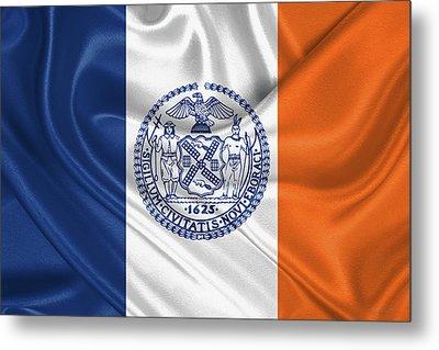 New York City - Nyc Flag Metal Print