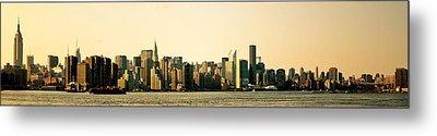 New York City Skyline Panorama Metal Print by Vivienne Gucwa
