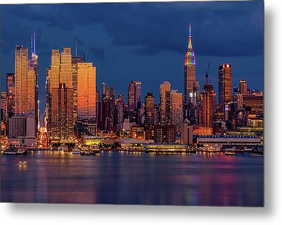 New York City Skyline Pride Metal Print