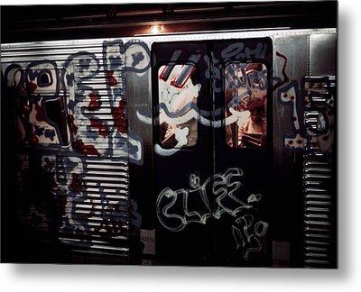 New York City Subway. A Subway Car Metal Print by Everett