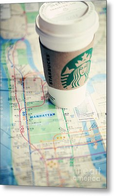 New York City Subway Map Metal Print