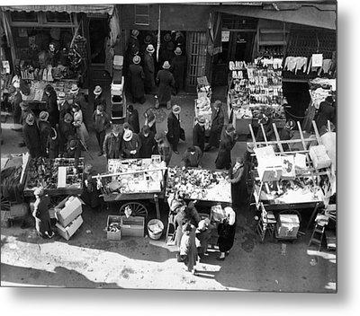 New York City, The Essex Street Market Metal Print by Everett
