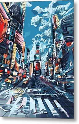 New York City-times Square Metal Print by Bekim Art