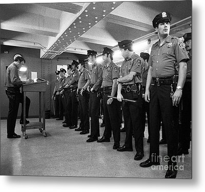 New York City Transit Police 1978 Metal Print by The Harrington Collection