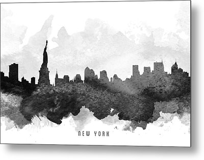 New York Cityscape 11 Metal Print by Aged Pixel