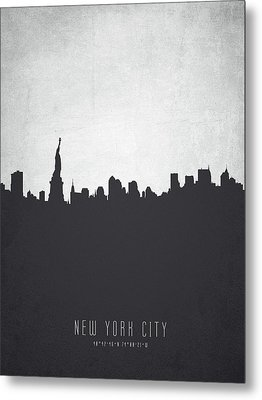 New York Cityscape 19 Metal Print by Aged Pixel