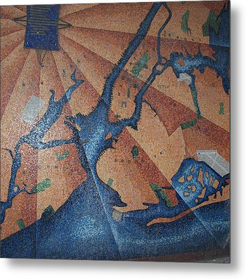 New York In Mosaic Metal Print by Rob Hans