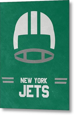 New York Jets Vintage Art Metal Print