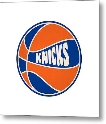 New York Knicks Retro Shirt Metal Print by Joe Hamilton