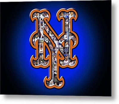 New York Mets Metal Print by Fairchild Art Studio