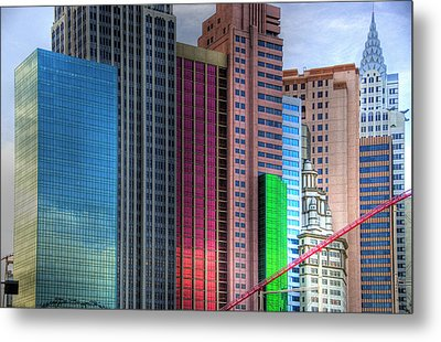 New York-new York - Las Vegas Metal Print by Neil Doren