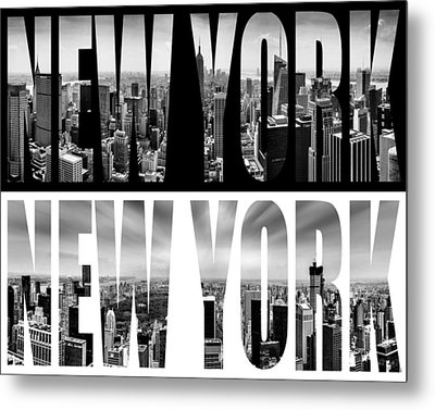 New York New York Metal Print by Az Jackson