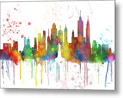 New York Ny Skyline Metal Print