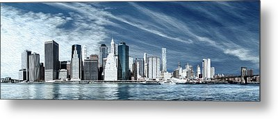 New York One Metal Print by Melissa Smith