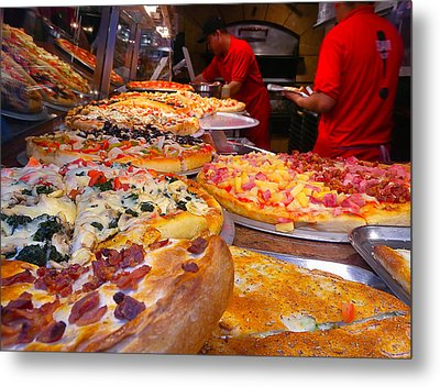 New York Pizza Metal Print by Steve Zimic