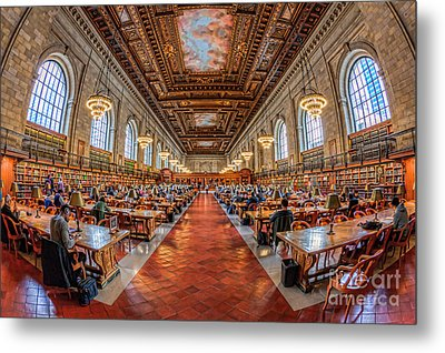 New York Public Library Main Reading Room I Metal Print by Clarence Holmes
