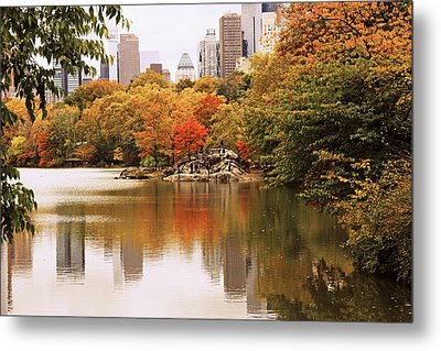 New York Reflections Metal Print by Jessica Jenney