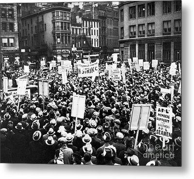 New York: Seamens Strike Metal Print by Granger