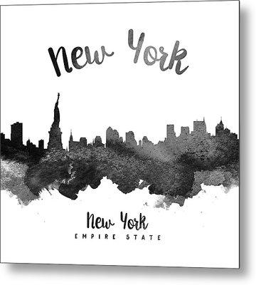 New York Skyline 18 Metal Print by Aged Pixel