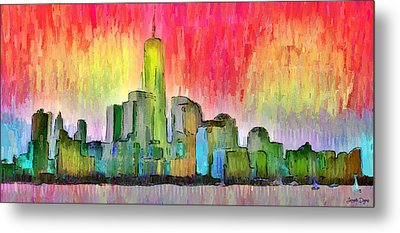 New York Skyline 3 - Da Metal Print