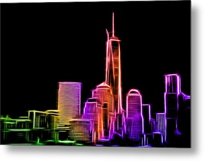 Metal Print featuring the photograph New York Skyline by Aaron Berg