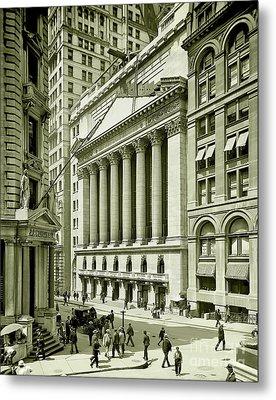 New York Stock Exchange Under Construction 1903 Metal Print