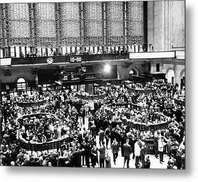 New York Stock Exchange During Heavy Metal Print by Everett