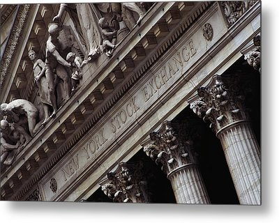 New York Stock Exchange New York Ny Metal Print by Panoramic Images