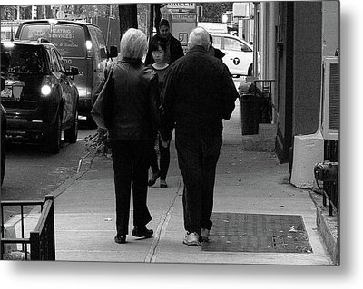 Metal Print featuring the photograph New York Street Photography 75 by Frank Romeo