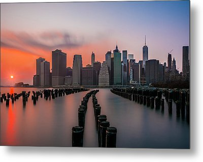 Metal Print featuring the photograph New York Sunset by RC Pics