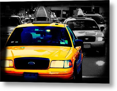 New York Taxi Metal Print by Christopher Woods
