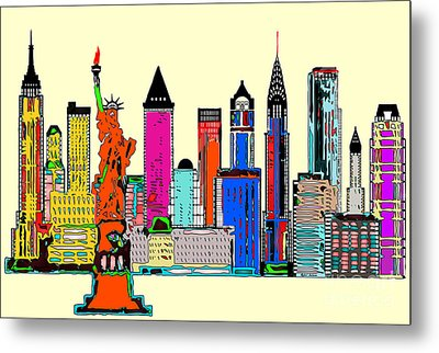 New York - The Big City Metal Print