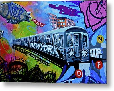 New York Train Metal Print by Joan Reese