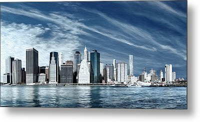 New York Two Metal Print by Melissa Smith