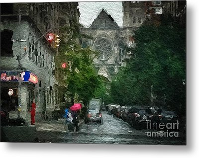 New York Upper West Side Scene Metal Print by Amy Cicconi