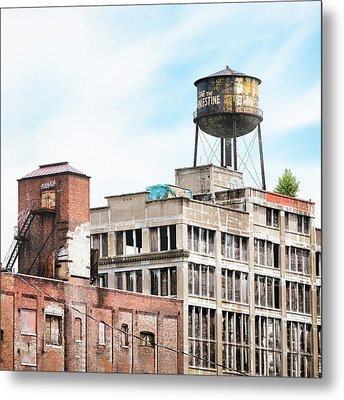 New York Water Towers 18 - Greenpoint Water Tower Metal Print