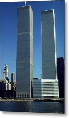 New York World Trade Center Before 911 - Architecture Metal Print by Art America Gallery Peter Potter