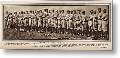 Metal Print featuring the photograph New York Yankees 1916 by Daniel Hagerman