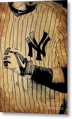 New York Yankees Baseball Team Vintage Card Metal Print