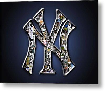 New York Yankees Metal Print by Fairchild Art Studio