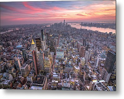 New York Metal Print by Zev Steinhardt