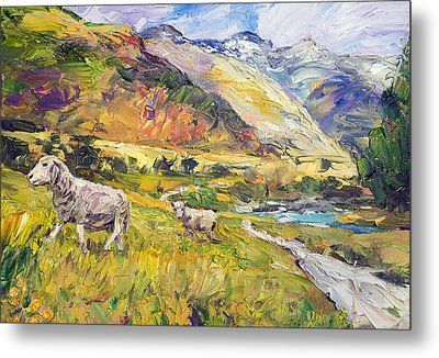 New Zealand Pastoral Metal Print by Steven Boone
