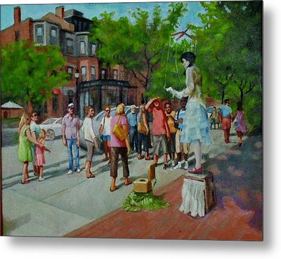 Newbery St. Boston Metal Print by Janet McGrath